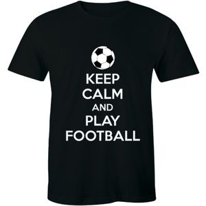 Keep Calm And Play Football Sport Soccer T-shirt